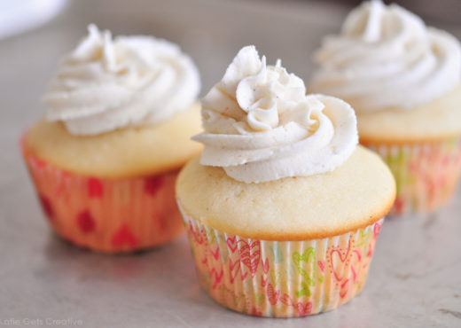 BVanilla Bean Cupcakes and Brown Butter Frosting