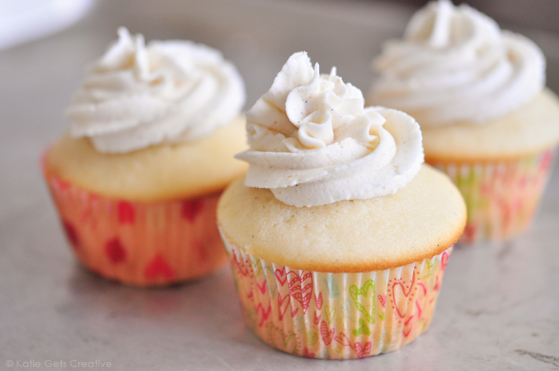 Vanilla Bean Cupcakes and Brown Butter Frosting
