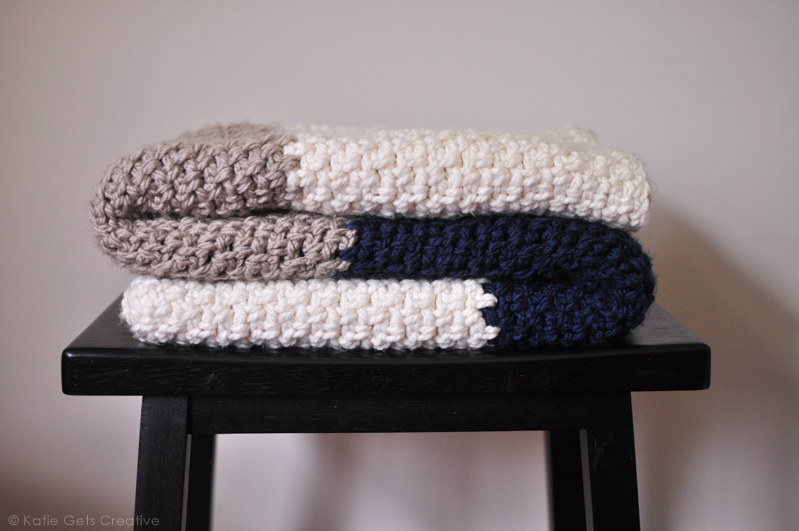 Moss Stitch Crochet Blanket from Katie Gets Creative