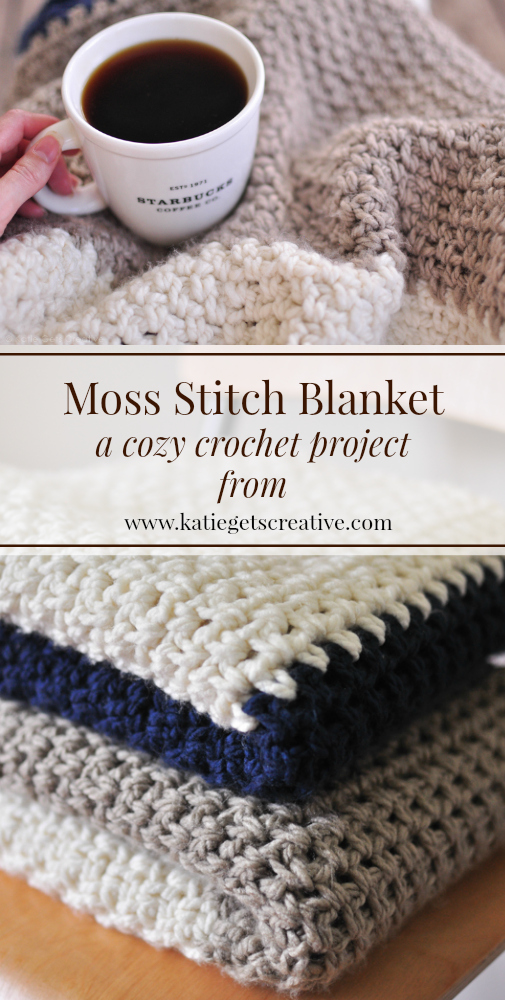 Moss Stitch Blanket from Katie Gets Creative