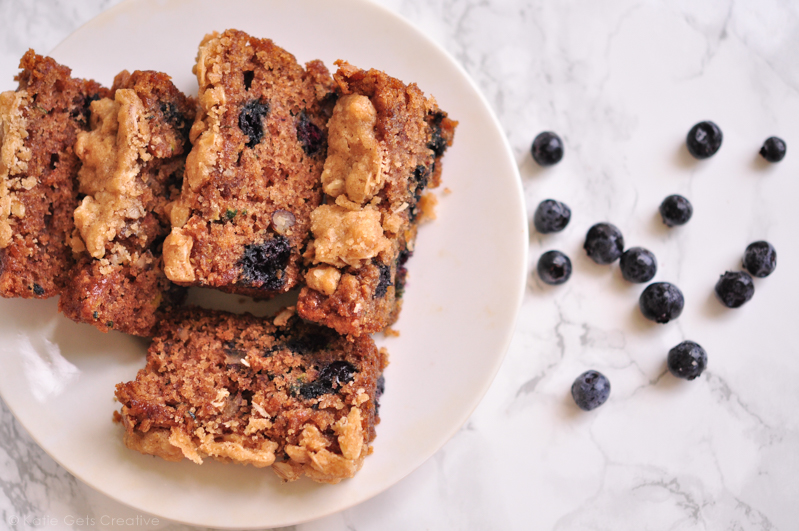 Blueberry Zucchini Bread from Katie Gets Creative