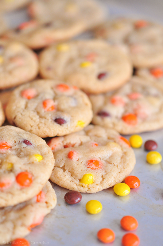 Reese's Pieces Cookies from Katie Gets Creative